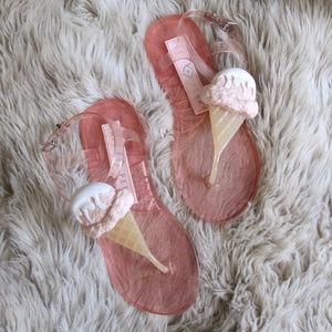 Katy Perry sundae ice cream pink jelly sandals